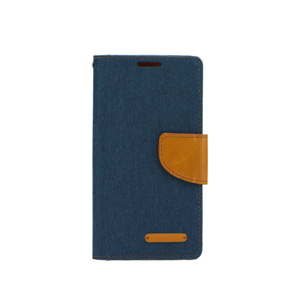 Puzdro Canvas Book Sony Xperia M4 Aqua blue
