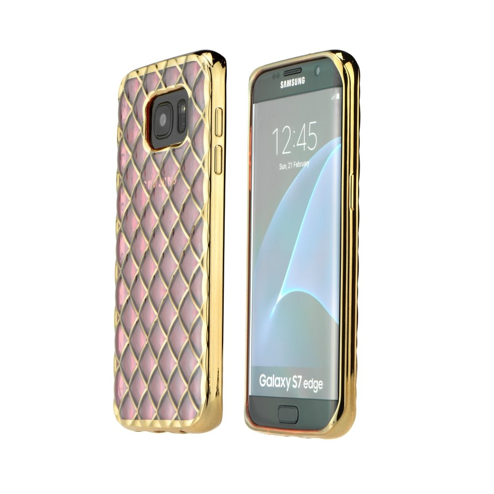 Puzdro Luxury Gel pre Samsung Galaxy S6 Edge rose gold