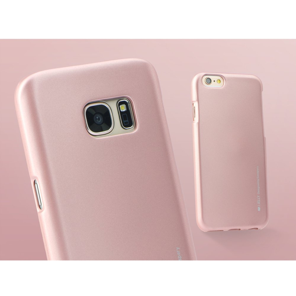 Puzdro i-Jelly Samsung Galaxy S7 Edge rose gold