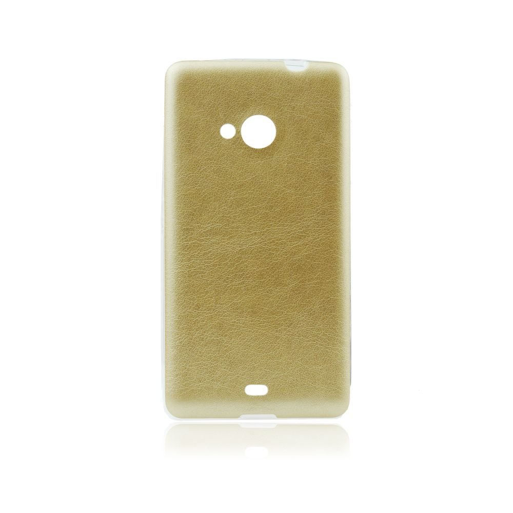 Puzdro Jelly Case koža Sony Xperia Z5 gold