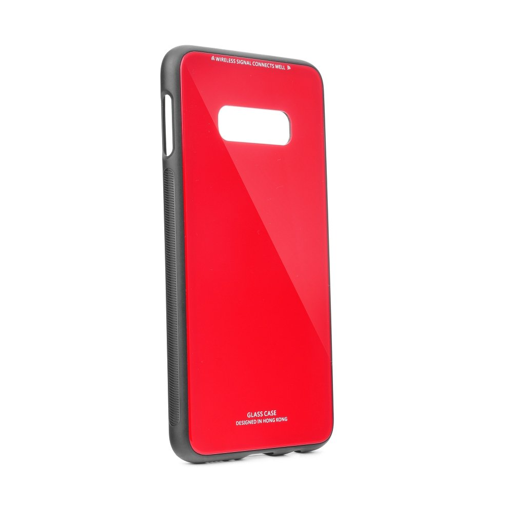Puzdro Forcell Glass Samsung Galaxy S10e red