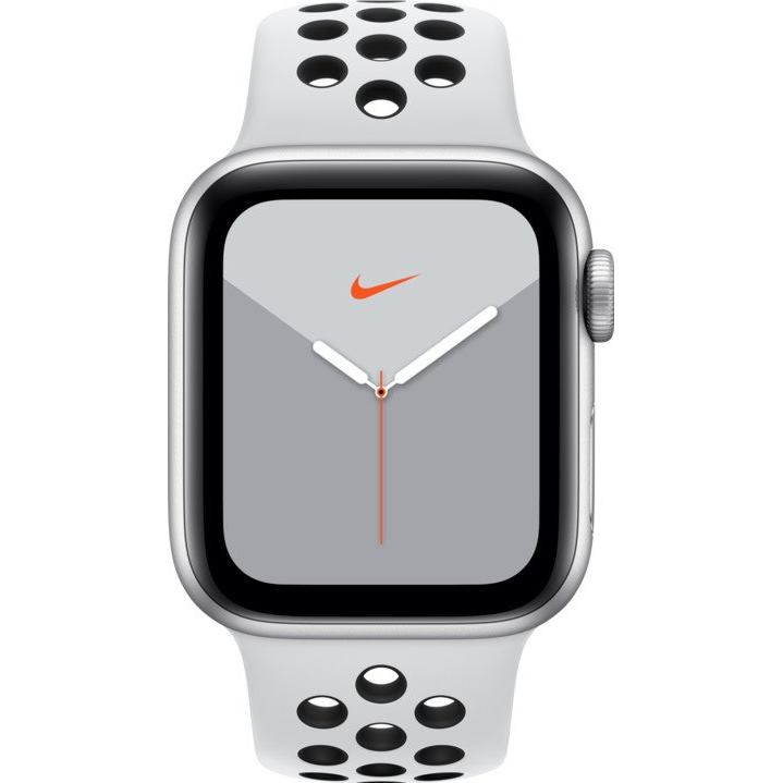 Apple Watch Nike Series 5 GPApple WaApple Watch Nike Series 5 GPS, 40mm Silver Aluminium Case with Pure Platinum/Black Nike Sport Band mx3r2hc/a